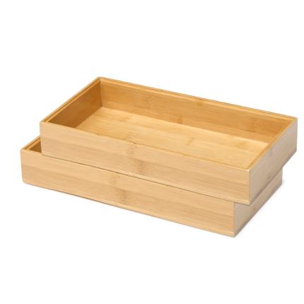 Besteck Box aus Bambusholz 15x30 cm, stapelbar