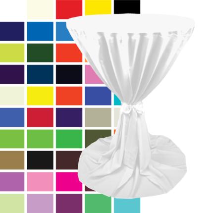 Kombi Stehtisch inkl. Überwurfhusse, verschiedene Farben Ø 85 cm, H 110 cm, Art.-Nr.: 60110 u. 66010
