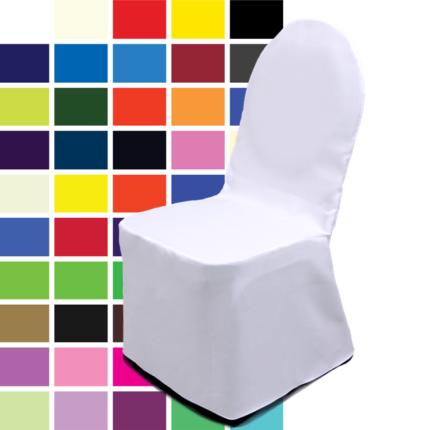 Stuhlhusse, verschiedene Farben für Bankettstuhl Lugano, gebügelt