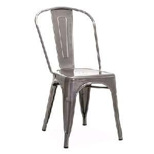 "Stuhl Tolix ""Vintage"" aus gebürstetem Stahl"